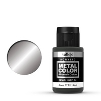 Vallejo Metal Color Steel 32ml Acrylic Paint