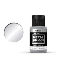 Vallejo Metal Color Semi Matte Aluminium 32ml Acrylic Paint
