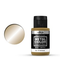 Vallejo Metal Color Gold 32ml Acrylic Paint