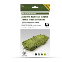 Vallejo 78408 Model Air AFV Set Modern Russian Green 6 Colour Acrylic Paint Set