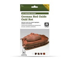 Vallejo Model Air AFV Set German Red Oxide 6 Colour Acrylic Paint Set