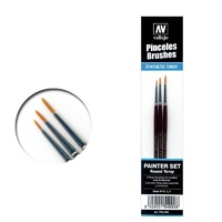 Vallejo P54999 Toray Detail Set (0, 1 & 2) Paint Brush Set