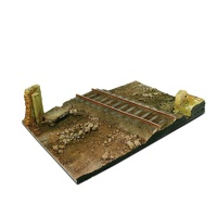 Vallejo Scenics 31x21 Country road cross with railway section Diorama Base