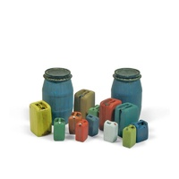 Vallejo SC211 Assorted Modern Plastic Drums #2 Diorama Accessory