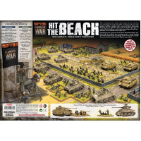 Flames of War Hit The Beach Army Set (German & American 11x Tanks, 2x Guns, 96x figs - Plastic) FWBX09