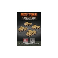 Flames of War Sd Kfz 231 SS Scout Troop (x4)
