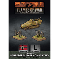 Flames of War Panzergrenadier Company HQ (Plastic)