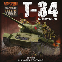 Flames of War Soviet LW T-34 Army Deal (Plastic)