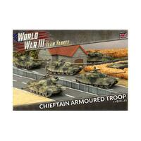 Team Yankee 1/100 Chieftan Armoured Troop (Plastic) TBBX01
