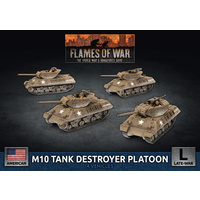 Flames of War M10 3-Inch Tank Destroyer Platoon (x4 Plastic)