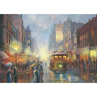 Blue Opal 1000pc Bradley Trams In Gaslight