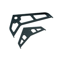 Blade Stab/Fin Set Carbon Fibre For B450 BLH1672C