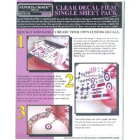 Bare Metal Foil Ink Jet Clear Decal Film Single Sheet BMF121