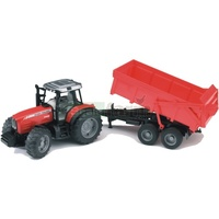 Bruder 1/16 Massey Ferguson 7480 Tractor With Tipping Trailer 02045