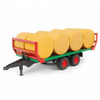 Bruder 1/16 Bale Transport Trailer with 8 Round Hay Bales