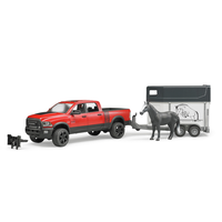 Bruder 1/16 RAM 2500 Power Wagon with Horse and Trailer