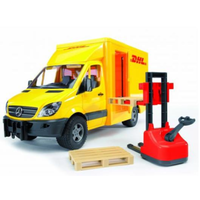 Bruder 1/16 MB Sprinter DHL and Hand Pallet T BR02534