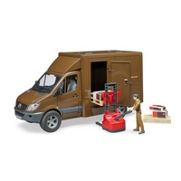 Bruder 1/16 MB Sprinter UPS With Driver And Accessories 02538