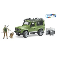 Bruder 1/16 Land Rover Defender Station Wagon w/forester + dog