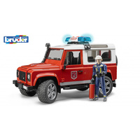 Bruder 1/16 Land Rover Defender Wagon -Fire Department With L&S
