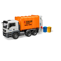 Bruder 1/16 MAN TGS Rear Loading Garbage Truck Orange