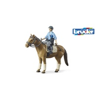 Bruder Bworld Police Horse with Mounted Policeman