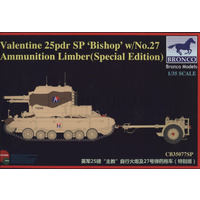 Bronco 1/35 British Bishop 25PDR W/ Ammo Limber