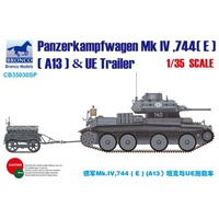 Bronco CB35030SP 1/35 Panzerkampfwagen Mk.IV, 744(E)(A13) & UE Fuel Tank Trailer Plastic Model Kit