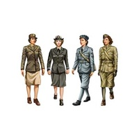 Bronco CB35037 1/35 W.W.II Allied Female Soldier Set (4 figures) Plastic Model Kit