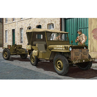 Bronco CB35107 1/35 US GPW 1/4 ton 4/4 (Mod.1942) w/37mm Anti-Tank Gun M3A1 Plastic Model Kit