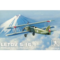 Brengun 1/72 LETOV S.16.1 PRAGUE-TOKYO-PRAGUE with photoetch parts Plastic Model Kit