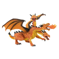 Bullyland Dragon with 3 Heads Orange