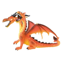 Bullyland Dragon Double-Headed Orange