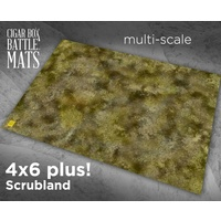 Cigar Box Scrubland 4x6 Battle Mat