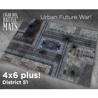 Cigar Box District 51 4x6 Battle Mat