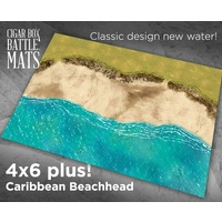 Cigar Box Carribbean Beachhead 4x6 Battle Mat