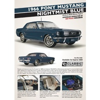 Classic Carlectables 1/18 1966 Pony Mustang - Nightmist Blue 18702 Diecast Car