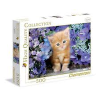 Clementoni 500pc Ginger Cat In Flowers CLE 30415