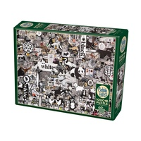 Cobble Hill 1000pc Black And White Animals Jigsaw Puzzle