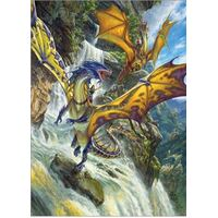 Cobble Hill 1000pc Waterfall Dragons