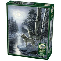Cobble Hill 1000pc Wolves By Moonlight Jigsaw Puzzle
