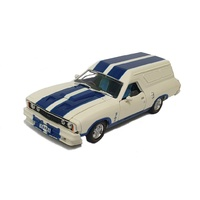 Oz Legends 1/32 White w/Blue Stripes XC Cobra Ford Falcon Panelvan Diecast Car