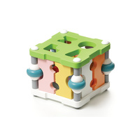 Cubika Find the shape square LS-3 Wooden Toy