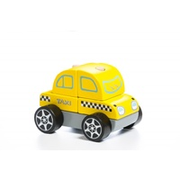 Cubika Taxi car LM-6 Wooden Toy
