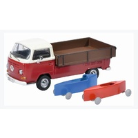 Schuco 1/43 Volks Wagon T2a Pick up With 2 Soap Boxes