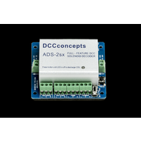DCCconcepts Accessory Decoder CDU Solenoid Drive SX 2-Way with Power-Off Memory and Protective Case