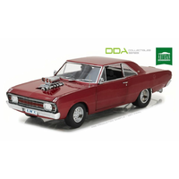 DDA 1/18 1970 Chrysler VG Valiant Drag Car Candy Apple Red w/Super Charger (Opening f 009 Diecast