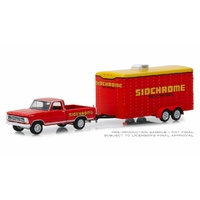 DDA 1/64 1967 Ford F-100 Sidchrome with Sidchrome Enclosed Car Hauler 51242 Diecast