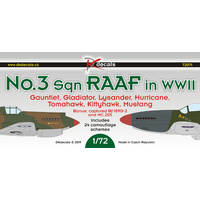 DK Decals 1/72 No.3 Sqn RAAF in WWII Plastic Model Kit