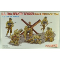 Dragon 1/35 U.S. 29th Infantry Division (Omaha Beach, D-Day 1944) Plastic Model Kit 6211